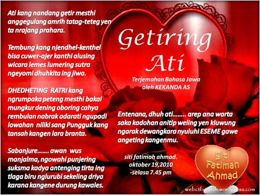 Puisi Cinta Jawa Kuno Celoteh Bijak
