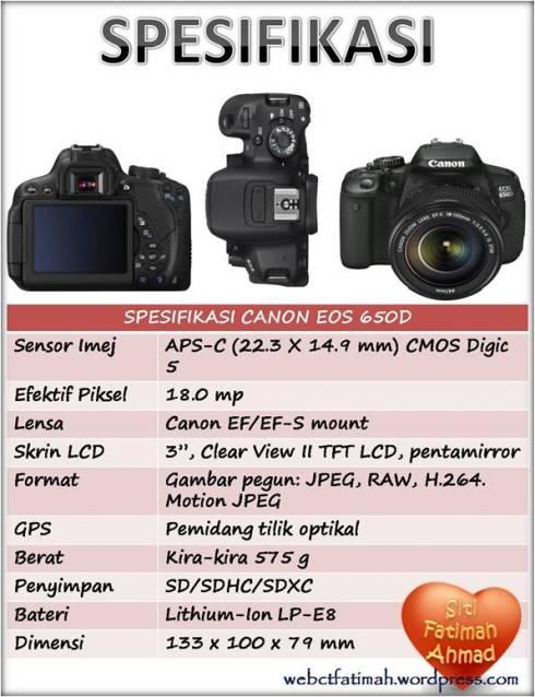 KameraFatima6Spesifikasi