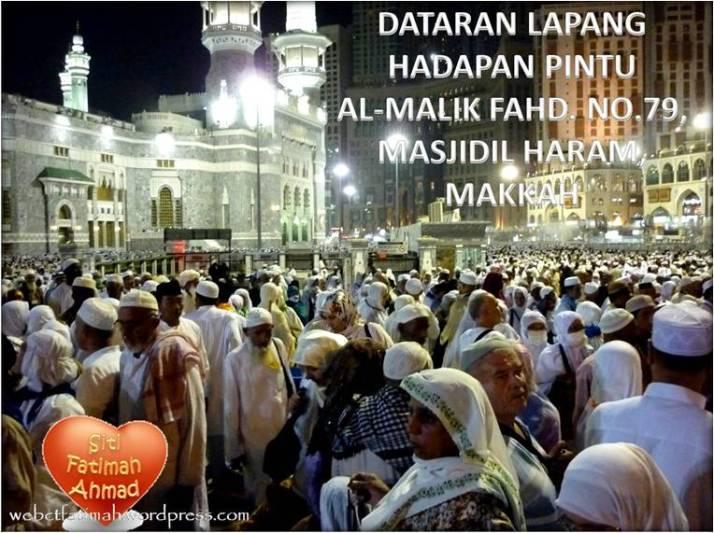 HajiTuaFatima5DataranMasjidilHaram