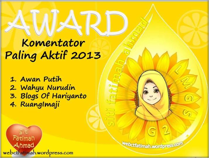 AWARDLMGSG2Fatima1KomentatorPalingAktif2013
