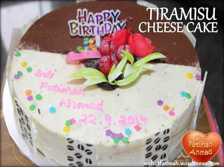SweetFatima3HappyBirthdayTiramisuCheeseCake