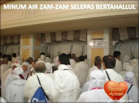 TahallulFatima8MinumAirZam-Zam