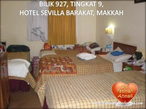 UmrahWajibFatima13Bilik927HotelSevillaBarakat