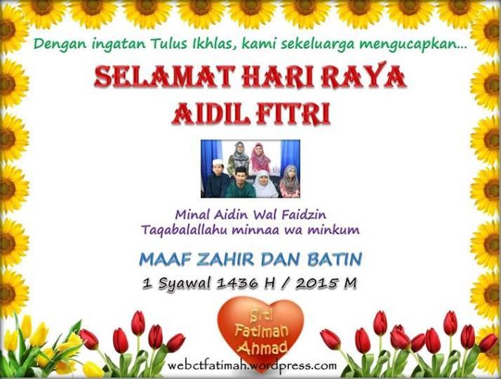 SyawalFatima6Ucapankeluarga2015