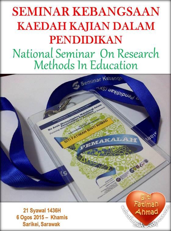 SeminarFatima1KajianKaedah29Julai2015
