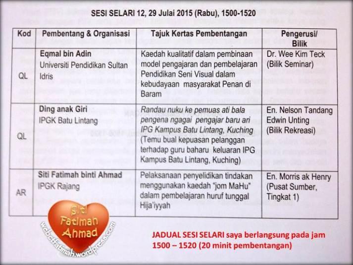 SeminarFatima6JadualBentang